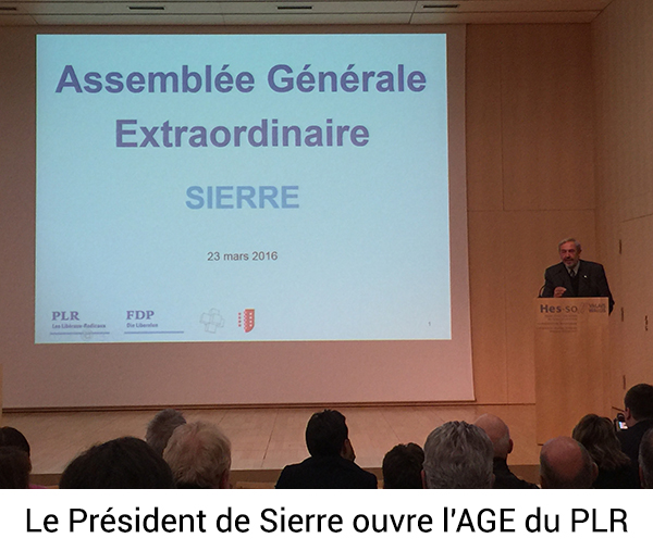 Le Président de Sierre ouvre l'AGE du PLR